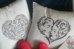 cuscino visi amore