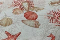 stoffa corallo mare sea